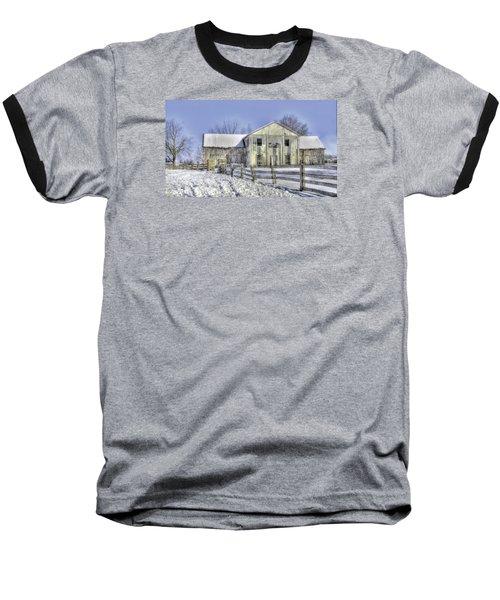 Winter Barn 3 Baseball T-Shirt
