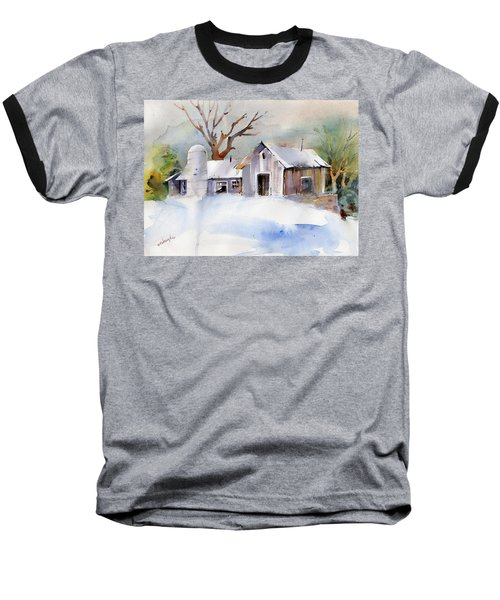 Winter Barn Baseball T-Shirt