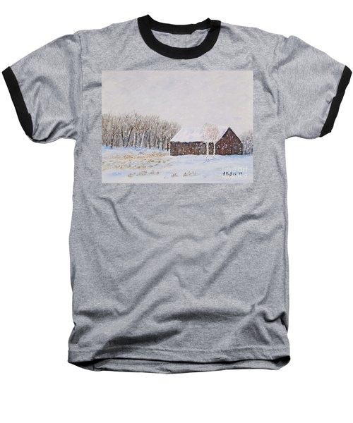 Winter Barn Baseball T-Shirt