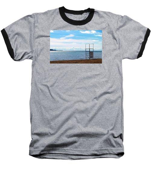 Baseball T-Shirt featuring the photograph Winter Beach by Valentino Visentini