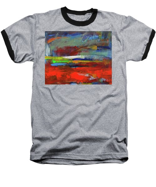 Baseball T-Shirt featuring the painting Winter Beginnings by Walter Fahmy