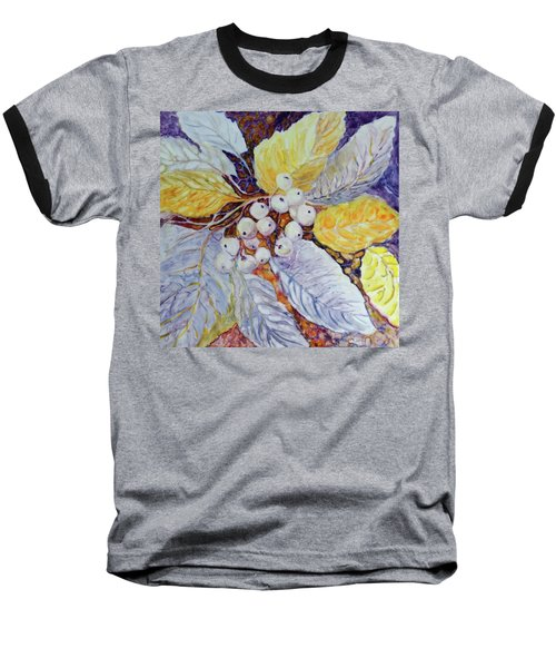 Baseball T-Shirt featuring the painting Winter Berries by Joanne Smoley