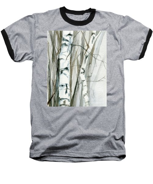 Winter Birch Baseball T-Shirt by Laurie Rohner