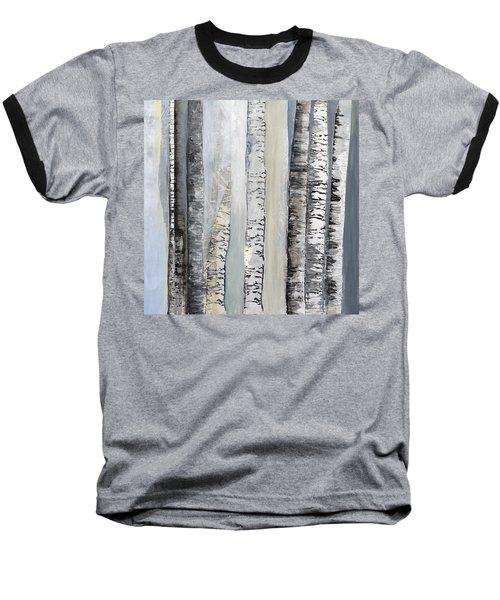 Winter Birches Baseball T-Shirt