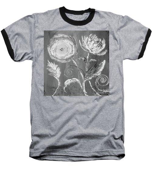Baseball T-Shirt featuring the digital art Winter Bloom II by Robin Maria Pedrero