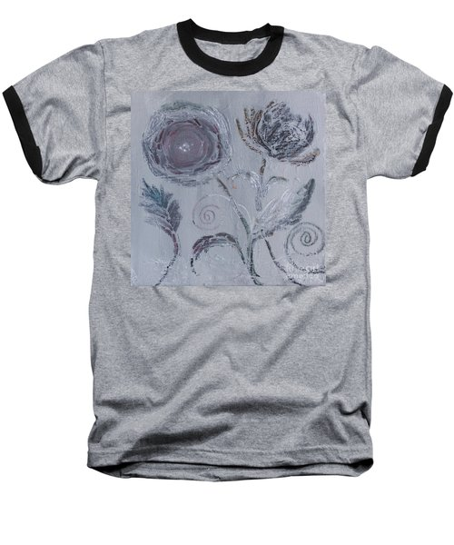 Baseball T-Shirt featuring the painting Winter Blooms by Robin Maria Pedrero