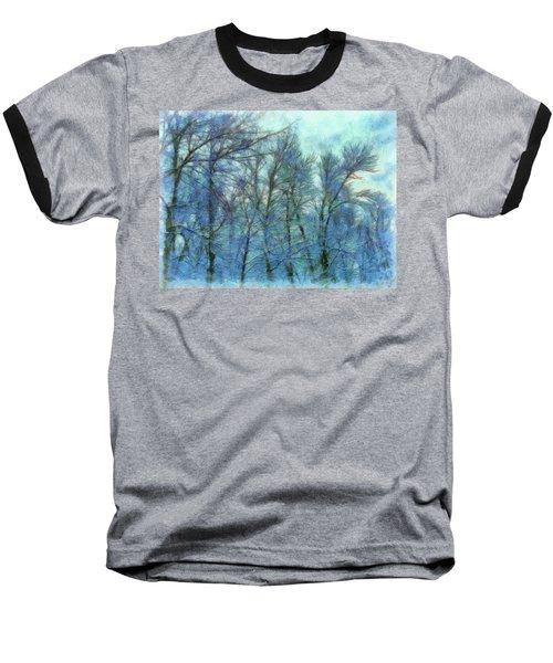 Winter Blue Forest Baseball T-Shirt