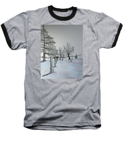 Baseball T-Shirt featuring the painting Winter Blues by Jack G  Brauer