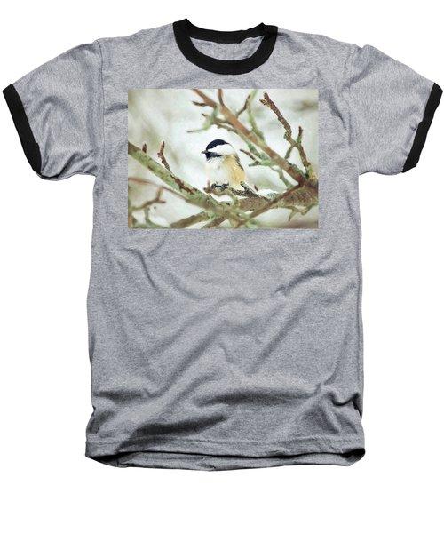 Winter Chickadee Baseball T-Shirt