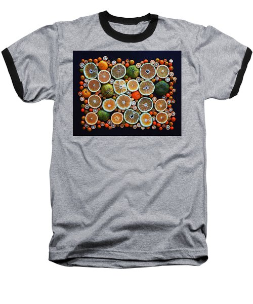 Winter Citrus Mosaic Baseball T-Shirt