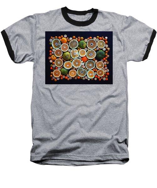 Winter Citrus Mosaic Baseball T-Shirt