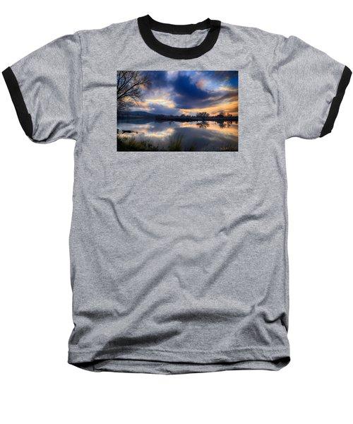 Winter Colors At Sunset Baseball T-Shirt by Lynn Hopwood