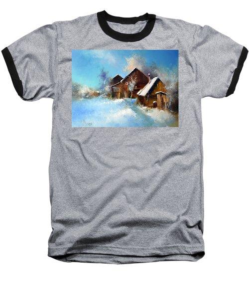 Winter Cortyard Baseball T-Shirt
