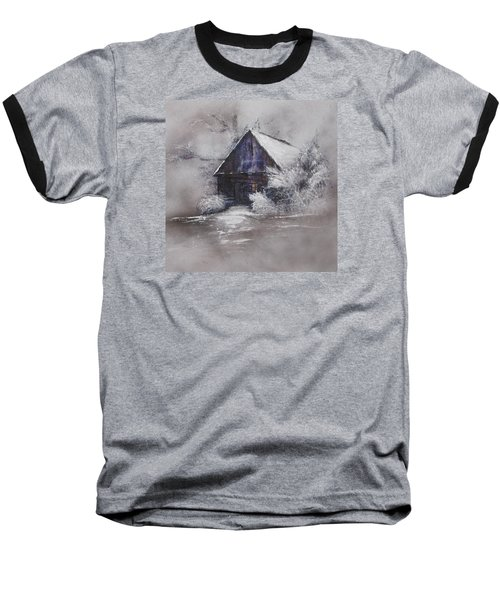 Winter Cottage Baseball T-Shirt