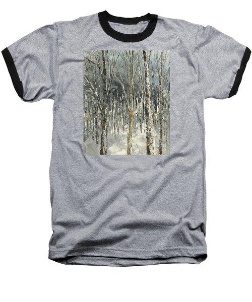Baseball T-Shirt featuring the painting Winter Country by Tatiana Iliina