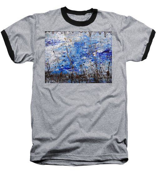 Baseball T-Shirt featuring the painting Winter Crisp by Jacqueline Athmann