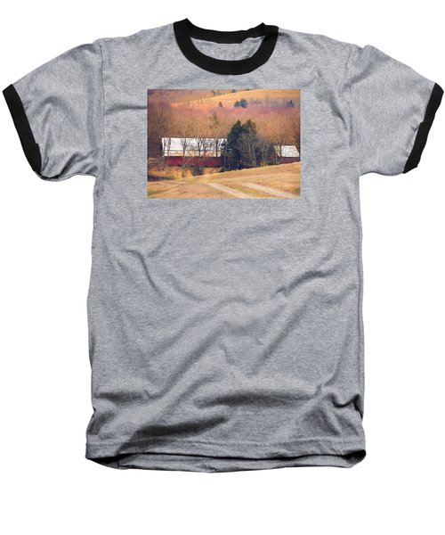 Baseball T-Shirt featuring the photograph Winter Day At The Farm by Debbie Karnes