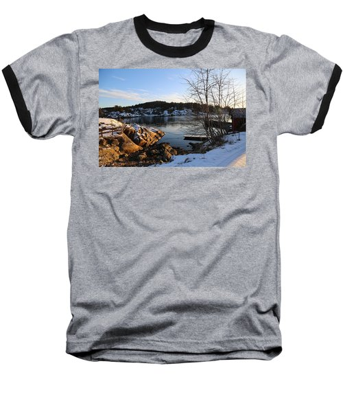 Winter Day By The Oslo Fjords, Norway.  Baseball T-Shirt