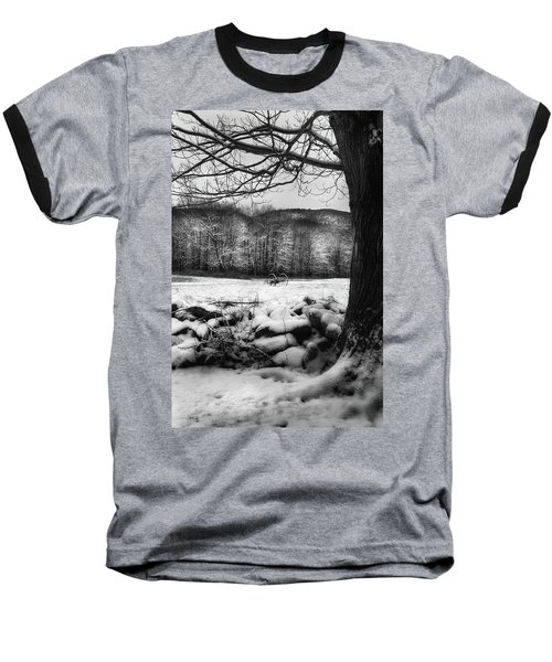 Baseball T-Shirt featuring the photograph Winter Dreary by Bill Wakeley