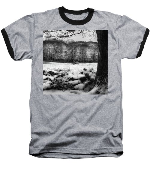 Baseball T-Shirt featuring the photograph Winter Dreary Square by Bill Wakeley