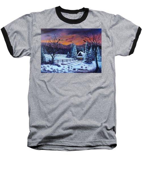 Winter Evening 2 Baseball T-Shirt