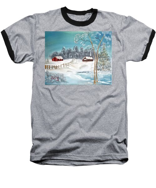 Winter Farm Baseball T-Shirt