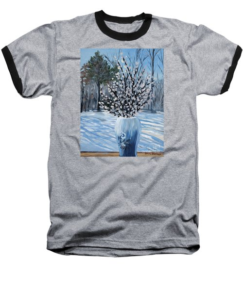 Winter Floral Baseball T-Shirt