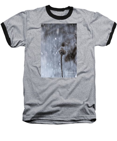 Winter Flower Baseball T-Shirt