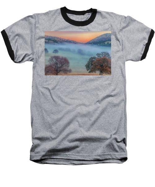Winter Fog At Sunrise Baseball T-Shirt