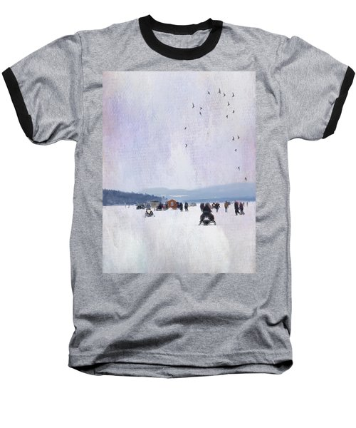 Winter Fun On The Lake Baseball T-Shirt
