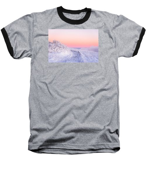 Winter Glow On Roan Mountain Baseball T-Shirt by Serge Skiba