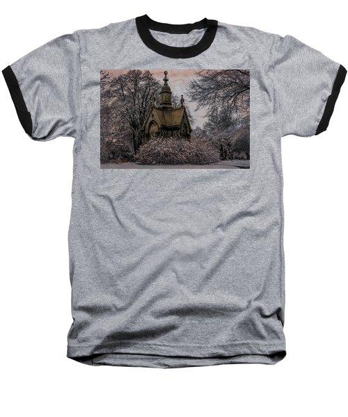 Baseball T-Shirt featuring the digital art Winter Gothik by Chris Lord
