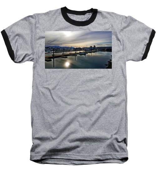 Winter Harbor Revisited #mobilephotography Baseball T-Shirt by Chriss Pagani