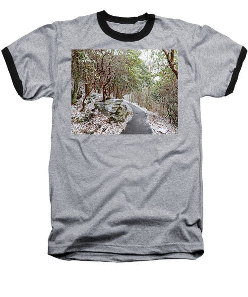 Winter Hiking Trail Baseball T-Shirt