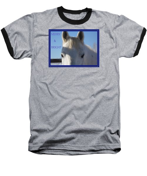 Winter Horse Christmas Baseball T-Shirt