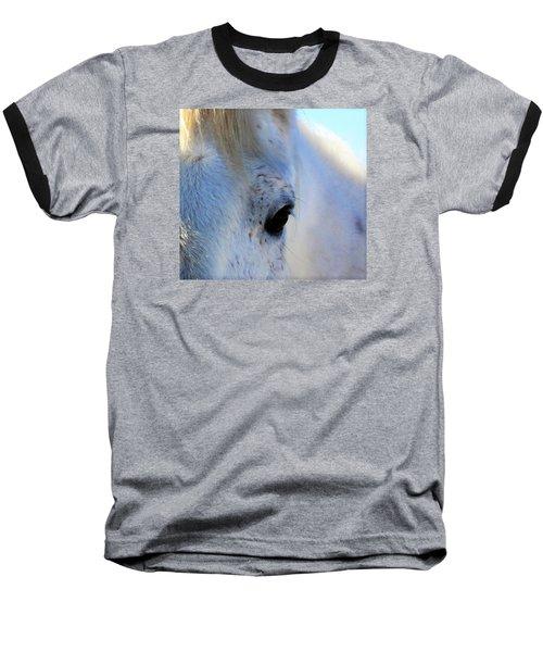 Winter Horse Baseball T-Shirt by Deborah Moen