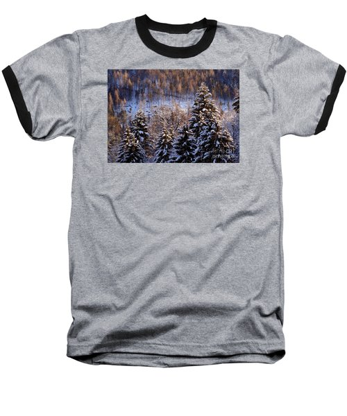 winter in Bavaria 8 Baseball T-Shirt by Rudi Prott