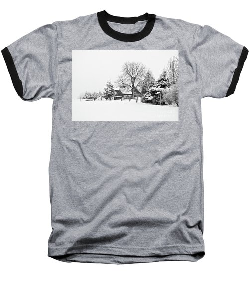Winter In Black And White Fleckl, Germany 2 Baseball T-Shirt
