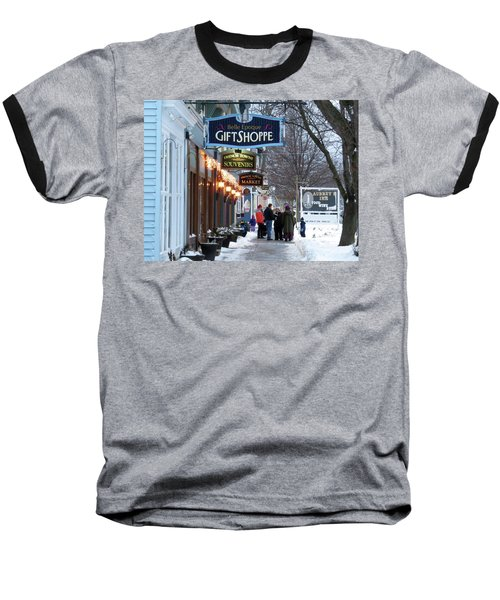Winter In Cape Vincent Baseball T-Shirt