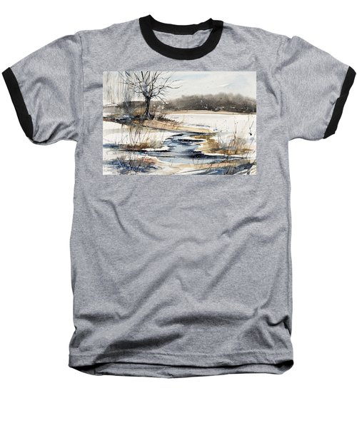 Winter In Caz Baseball T-Shirt by Judith Levins