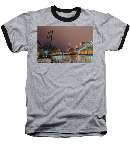 Winter In Cleveland, Ohio  Baseball T-Shirt