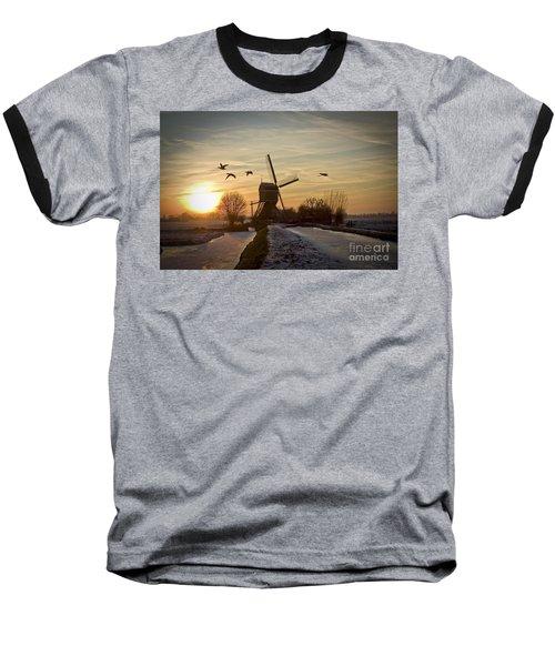 Winter In Holland-2 Baseball T-Shirt