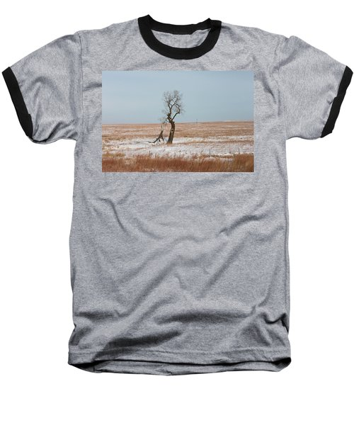 Winter In Kansas Baseball T-Shirt