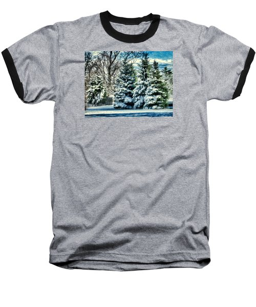 Winter In New England Baseball T-Shirt