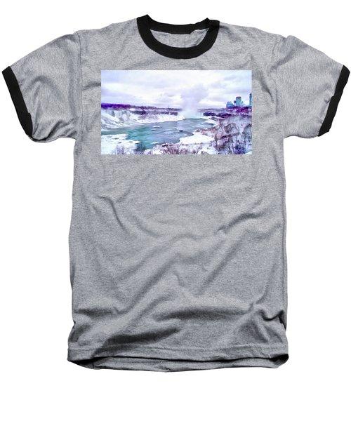 Winter In Niagara 1 Baseball T-Shirt