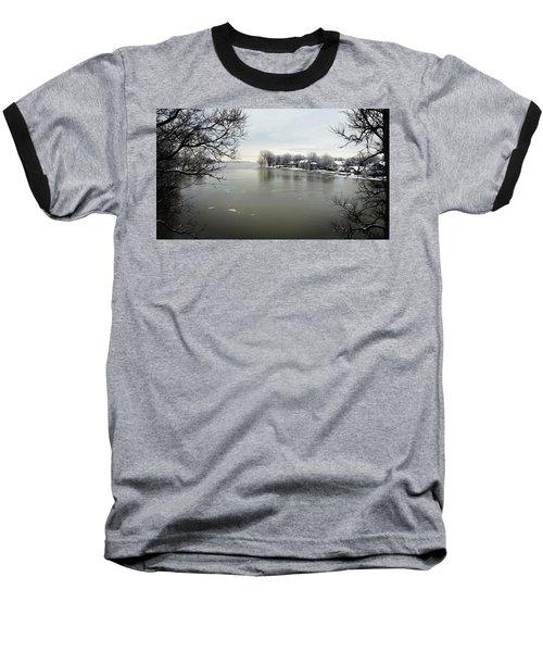 Winter In Quebec Baseball T-Shirt