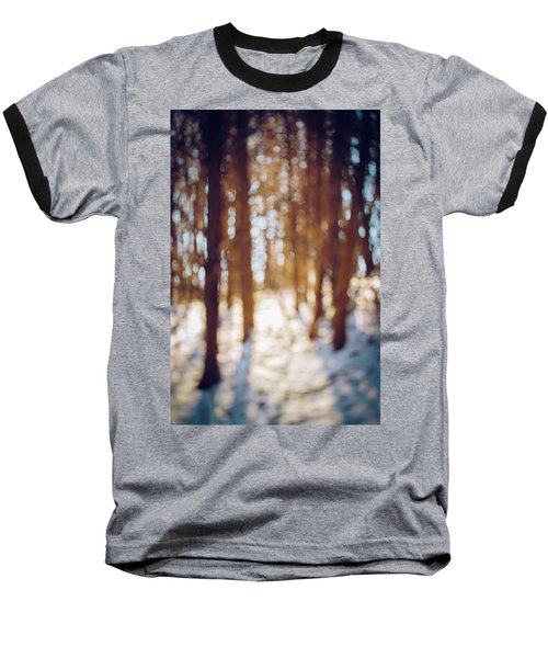 Winter In Snow Baseball T-Shirt