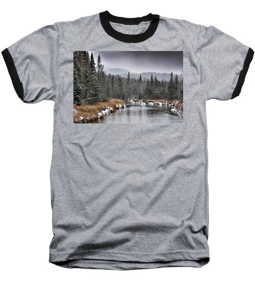 Baseball T-Shirt featuring the photograph Winter In The Adirondack Mountains - New York by Brendan Reals
