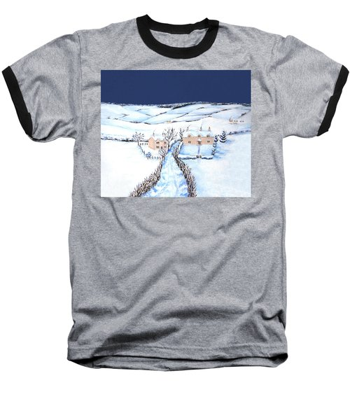 Winter In The Cotswolds Baseball T-Shirt