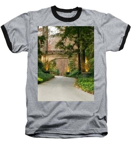 Baseball T-Shirt featuring the photograph Winter In The Garden by Robin Regan